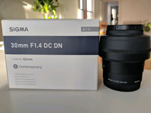 Sigma 30mm f 1.4 Contemporary for Sony E-Mount