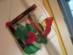 Window Hanging Stained Glass - Dated 89 - Artist Initialed