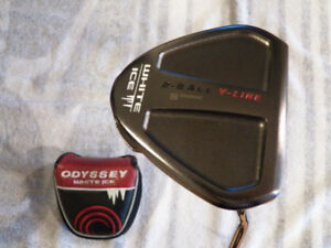 RH ODYSSEY WHITE ICE 2-BALL V-LINE GOLF PUTTER WITH H/C 35""