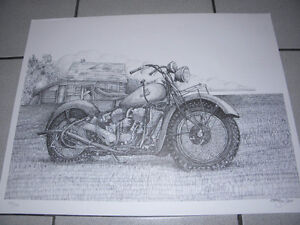 Allen Moir- Dilapidated farmhouse/ motorcycle 179/1000