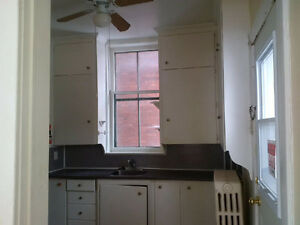 1 large bedroom + den unit available immediately.