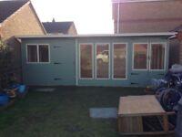 20ft x 10ft bespoke garden buildings/ sheds/ summerhouses/ office/ man cave