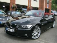 2008 08-Reg BMW 320i M Sport Convertible,GEN 55,000 MILES,FULL HEATED RED LTHR!!