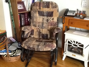 Queen size Hide-a-bed  with matching rocking chair glider.