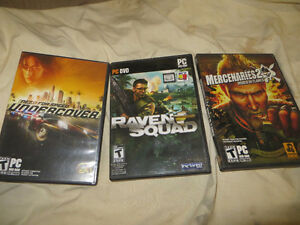 3 x PC games: Mercenary 2, NFS Undercover, Raven Squad