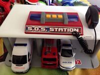 SOS station with 3 vehicles