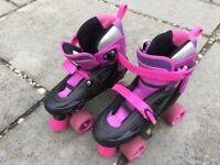 Girls roller skates hardly worn