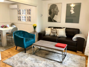 Atwater market, fully furnished, lux 3 BR, Lionel Groulx metro