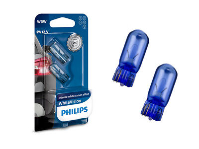 5 Pack Blue Led (2x PHILIPS WhiteVision Standlicht 4500K LED Optik W5WL T10 501 E-Prüfzeichen)