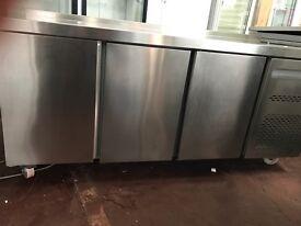 Sterling Chiller bench Worktop Fridge 3 Door counter