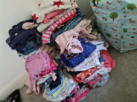 Huge bundle of girls baby clothes FREE