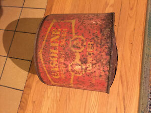 Vintage Old rusty Gasoline Can