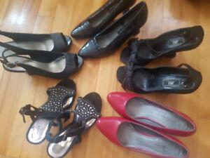 chaussures femmes et 1 sac