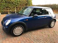 2003 Reg Mini One in blue Mot May 2017 Full Service History