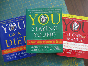 Three hard cover Dr. Oz books