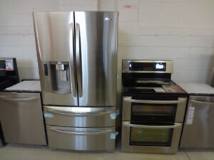 STAINLESS STEEL FRIDGE & STOVE $299 Delivery Before Sunday