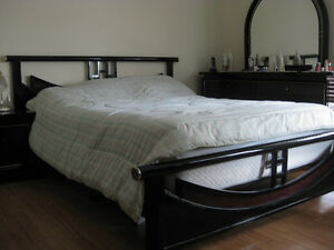 Bedroom Set: Queen Bed, Cabinet, Night Stands and Chest Drawer