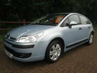 07/07 CITROEN C4 1.6 SX AUTO 5DR HATCH IN MET BLUE WITH ONLY 64,000 MILES