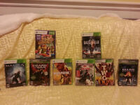 XBOX 360 KINECT with 8 games and 2 controllers