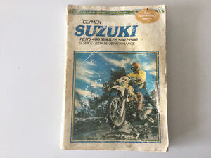 1977-1980 Suzuki  PE175-400 Singles Shop Manual PE250C PE400T