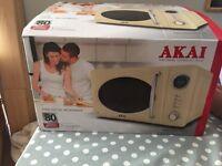 Brand new on box - cream microwave