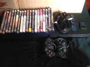 PS2 with 19 games 2 controllers and memory card