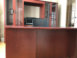 Canadian made executive desk and hutch