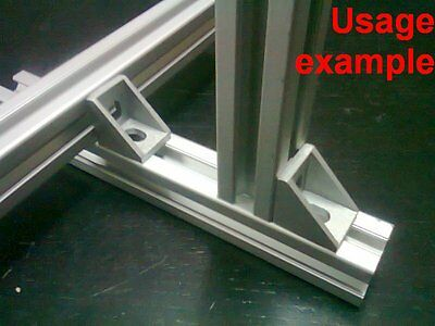 Aluminum T-slot 20x20 Profile 90 Deg Small Corner Connector Bracket 8-set