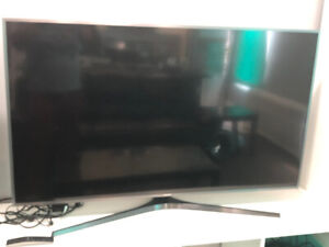 "Samsung 55"" Smart TV w/Remote (Screen has a Dent)"