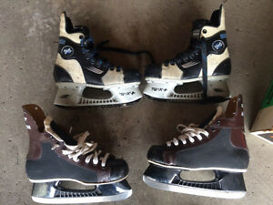 Hockey skates Bauer vapour 8 size 3 and daoust all stars size 5