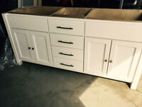 Beautifully crafted 6 foot - Double sink vanity