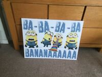 Minions Canvas Pictures x2
