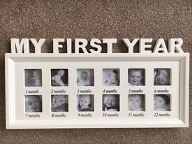 My first year photo frame. Brand new in box.