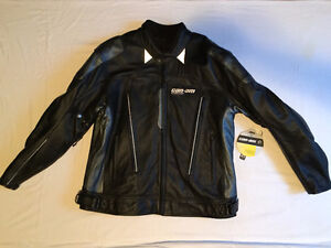 Brand New Black 2XL Can-Am Leather Jacket