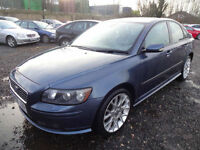 VOLVO S40 2.0D SPORT~56/2006~4 DOOR SALOON~6 SPEED MANUAL~STUNNING METALLIC BLUE