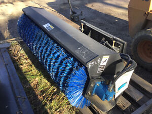 """NEW 72"""" SWEEPER SKID STEER UNIVERSAL QUICK ATTACH for BOBCAT CAT"""