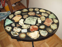 Unique Rock Side Table or Coffee Table