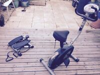 FREE working exercise bike and step up