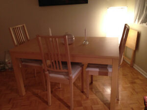Bjursta dining room table and chairs