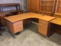 Cherry 1600 right hand office desk.