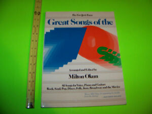 GREAT SONGS OF THE 70'S Music Book