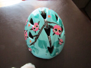 Toddler helmet with cute owls