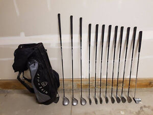 Full Set of Left Hand Golf Clubs with Nike Stand Bag