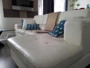 Leather Sofa sectional -L-Shaped