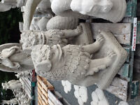 Sale price large concrete Foo Dog or Chinese Lions