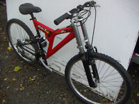 Mtn Bike,21 spd, front & rear suspension, 26 inch new tires