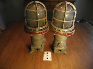 Two Vintage industrial Hazardous Locations Light Fixtures