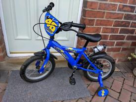 "Dawes 14"" boys blue Thunder bike/bicycle"