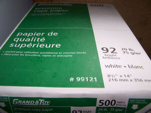 500 sheet packs of legal size paper