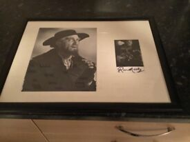 Ron moody genuine autograph framed comes with COA
